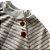 Blusão Infantil Pina em Malha Sustentável Listras Natural - Imagem 2