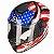 Capacete Bieffe B12 USA Preto com Colorido Brilhante - Imagem 4