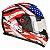 Capacete Bieffe B12 USA Preto com Colorido Brilhante - Imagem 3