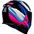 Capacete Axxis Eagle Tecno Preto Gloss Pink e Azul - Imagem 4