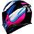 Capacete Axxis Eagle Tecno Preto Gloss Pink e Azul - Imagem 2