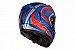 Capacete Peels Icon Silverstone Azul Fosco com Vermelho - Imagem 2
