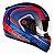 Capacete Peels Icon Silverstone Azul Fosco com Vermelho - Imagem 1