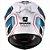 CAPACETE SHARK RACE-R PRO GUINTOLI RÉPLICA (FIBRA DE CARBONO/KEVLAR) BRANCO/AZUL/PRETO - Imagem 4