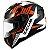 Capacete Zeus 811 Evo Top Gun Solid Black Al28 Orange - Imagem 1