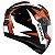 Capacete Zeus 811 Evo Top Gun Solid Black Al28 Orange - Imagem 2
