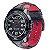 Relógio Alpinetar Tech Com Pulseira De Couro Preto E Vermelho - Imagem 1