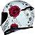 CAPACETE AXXIS EAGLE FLOWERS BRANCO/ROSA - Imagem 7