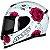 CAPACETE AXXIS EAGLE FLOWERS BRANCO/ROSA - Imagem 6