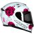 CAPACETE AXXIS EAGLE FLOWERS BRANCO/ROSA - Imagem 1