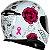 CAPACETE AXXIS EAGLE FLOWERS BRANCO/ROSA - Imagem 4