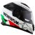 Capacete Norisk Ff302 Grand Prix Italia (C/Viseira Solar) Branco/Verde/Vermelho - Imagem 1
