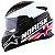 Capacete Norisk Ff302 Grand Prix Inglaterra UK (C/Viseira Solar) Branco/ Preto/Vermelho - Imagem 4