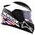 Capacete Norisk Ff302 Grand Prix Inglaterra UK (C/Viseira Solar) Branco/ Preto/Vermelho - Imagem 1
