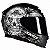 Capacete Axxis Eagle Skull Matt Black-Grey - Imagem 1