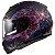 Capacete Ls2 Vector Ff397 Cosmos Matte Fosco Black Pink (Com viseira solar) - Imagem 4