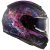 Capacete Ls2 Vector Ff397 Cosmos Matte Fosco Black Pink (Com viseira solar) - Imagem 1