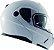 Capacete Nasa Racing Ns-1001 Branco Articulado Com Viseira Solar - Imagem 2
