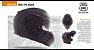 Capacete Nasa Racing Ns-1001 Preto Fosco Articulado Com Viseira Solar - Imagem 4