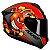 Capacete Axxis Draken Bomb Matt Black Red - Imagem 1