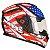 Capacete Bieffe B12 USA Preto com Colorido Fosco - Imagem 1