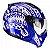 Capacete Peels Mirage Nazka Azul Metalizado com Branco - Imagem 1