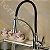 Misturador Monocomando Gourmet Design Black / Cor Preto Mesa Bancada C/ Ducha 2 Jatos - Imagem 6