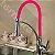 Misturador Monocomando Gourmet Design Pink / Cor Rosa Mesa Bancada C/ Ducha 2 Jatos - Imagem 3