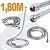 Engate 1,80 M Aço Inox Mangueira Flexível Para Duchas e Chuveiros Rosca 1/2'' - Imagem 3