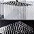 Conjunto: Ducha Quadrada 20 x 20 CM C/ Desviador Quadrado Braço 25 cm e Ducha Manual Quadrada - Imagem 5