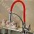 Misturador Monocomando Gourmet Design Red / Cor Vermelho Mesa Bancada C/ Ducha 2 Jatos - Imagem 4