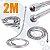 Engate 2,00 M Aço Inox Mangueira Flexível Para Duchas e Chuveiros Rosca 1/2'' - Imagem 4