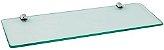 Prateleira de Vidro Temperado 8 mm com Kit Fixação Aço Inox - Imagem 1