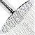 Ducha de Banho Articulada Com Braço 17 cm Redonda Slim 20 x 20 Aço Inox - Imagem 3