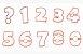 Cortador de Números 8,5cm (Rosa Bebê) - Blue Star - Imagem 1