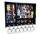 Barzinho de Parede Dosador MDF 83cm x 60cm Preto Fosco + Tema Londres - Imagem 2