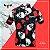 Camisa Lacarrera Caveira Com Rosas Preta - Imagem 2