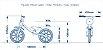 Bicicleta Infantil Balance Equilibrio Nathor Aro 12 Lilas - Imagem 6