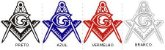 Adesivo - Esquadro e Compasso Grande Detalhado  - Imagem 2