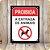 SINALIZE POLIETILENO 18X23 DEC46 PET PROIBIDA ENTRADA DE ANIMAIS  - Imagem 1