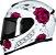 CAPACETE AXXIS EAGLE FLOWERS BRANCO/ROSA BRILHANTE - Imagem 2
