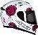 CAPACETE AXXIS EAGLE FLOWERS BRANCO/ROSA BRILHANTE - Imagem 6