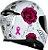 CAPACETE AXXIS EAGLE FLOWERS BRANCO/ROSA BRILHANTE - Imagem 5