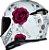 CAPACETE AXXIS EAGLE FLOWERS BRANCO/ROSA BRILHANTE - Imagem 3
