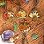 Pingente de Cogumelo com florzinhas naturais - Imagem 1