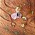 Pingente de Cogumelo com florzinhas naturais - Imagem 3