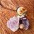 Pingente de Cogumelo com florzinhas naturais - Imagem 2