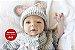 Boneca Bebê Reborn Menina Realista Um Verdadeiro Presente Com Enxoval E Acessórios - Imagem 1