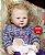 Boneca Bebê Reborn Menina Detalhes Reais Criança Grande Toddler 65 Cm Fofa E Encantadora - Imagem 2