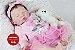 Bebê Reborn Menina Detalhes Reais Com Lindo Enxoval E Acessórios Bebê Encantadora - Imagem 2